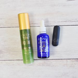 Tracie martyn absolute purity toner; kypris antioxidant dew; bite beauty agave lip balm