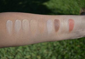 face palette swatch, makeup forever swatch, RCMA swatch