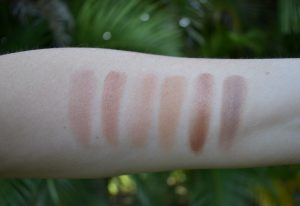 bronzer swatches, hourglass swatch, Tom Ford swatch, Chanel swatch, tan de soilel swatch, Fenty swatch, contour swatches