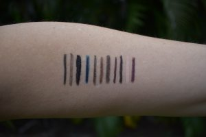 eyeliners swatch
