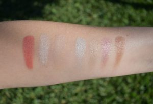 Chanel swatch, Dior backstage swatch, Dior backstage glow palette swatch