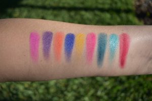 huda electric obsessions swatches