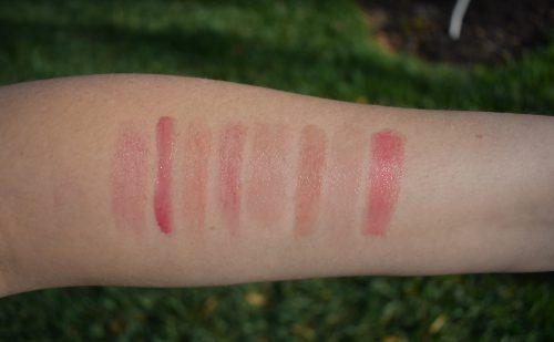 Nars Fast Lane swatch, Nars torrid swatch, Nars dolce vita swatch, bite smashed swatch, Sulwhasoo coral swatch, Pat McGrath blow up swatch